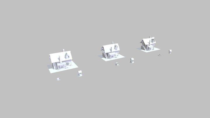 (XYZ_DP4)HW3_Silhouettes 3D Model