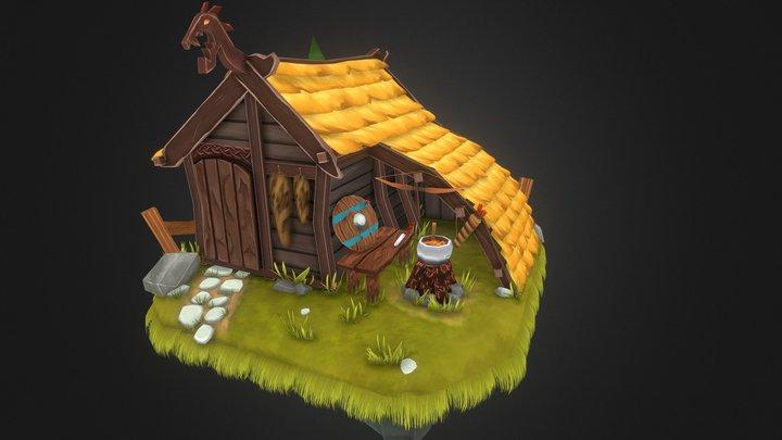 Viking Hunter Lodge 3D Model