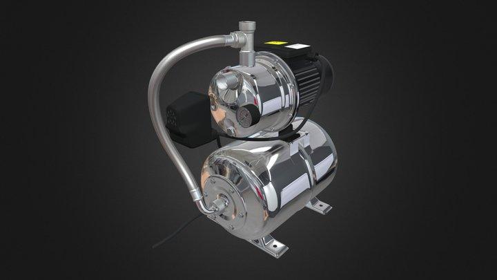 Water Booster Pressure Pump WEB AR VR Ready 3D Model