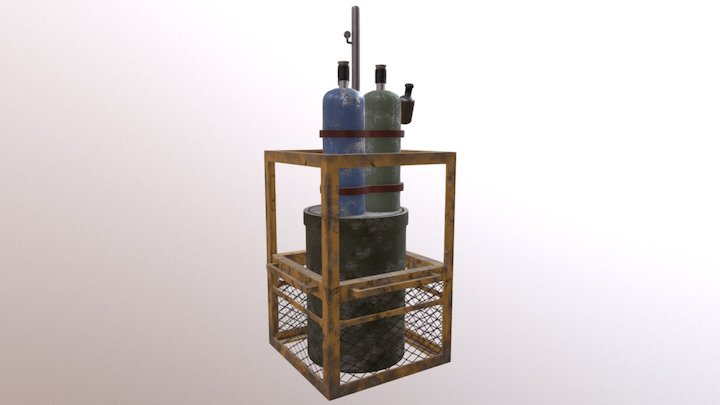 Bomb (Rainbow six siege Fan Art) 3D Model