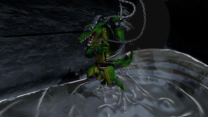 Ninja Leatherhead 3D Model