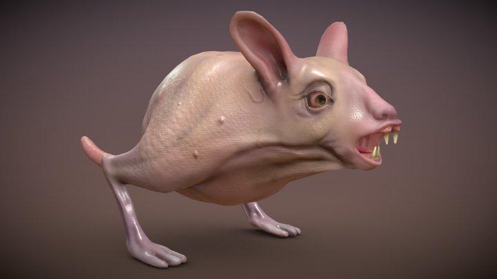 Naked Cow Rat Monster Free download 3D Model