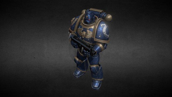 Warhammer 40000 Ultramarine (Fan Art) 3D Model