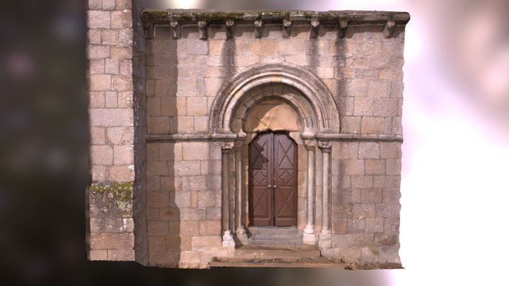Modelo 2. Portada Iglesia San Martín de Sobrán 3D Model