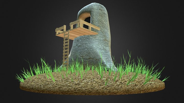 Tree Home 3D Model