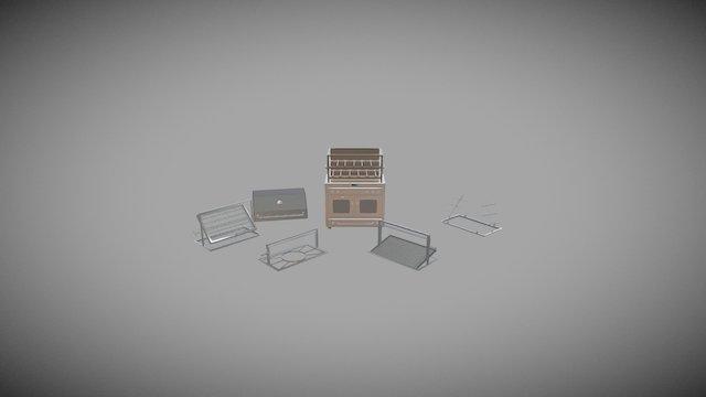 44 Burner Drawer All 3D Model