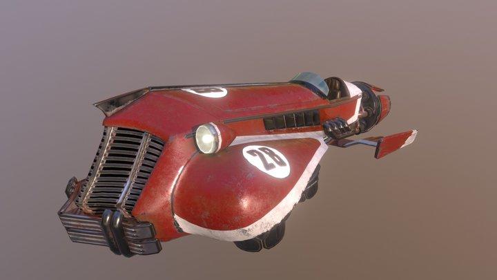 Vintage Hover Racer 3D Model