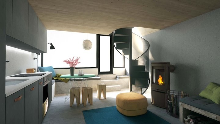 architectural visualisation / Nordic house. 3D Model