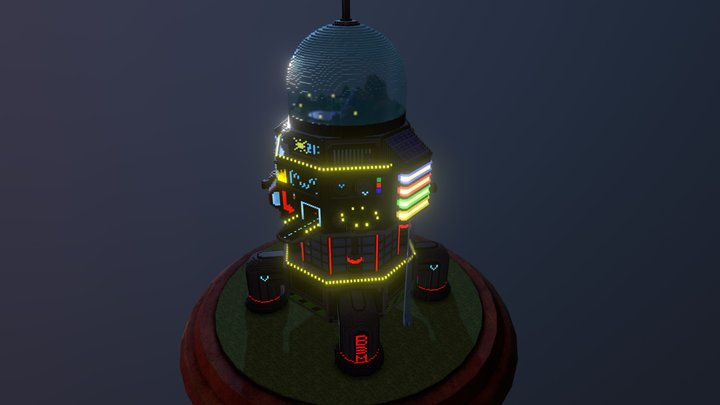 Rocket Arcology 3D Model