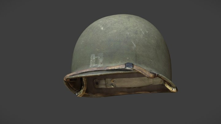 US Helmet - WW2 Scanned Asset Pack 3D Model