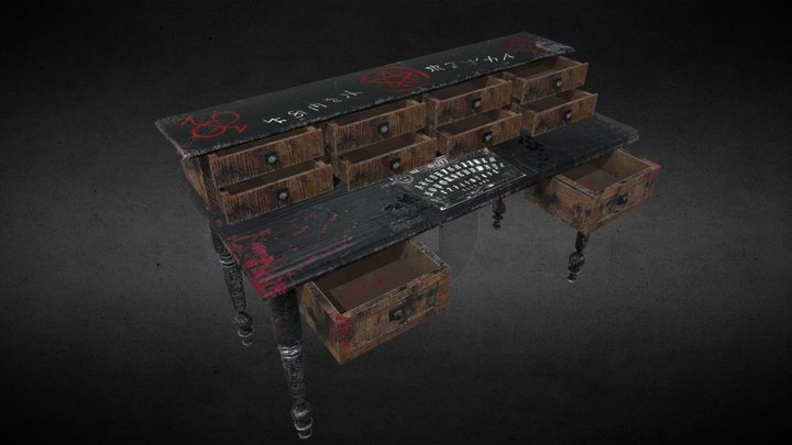 Dark Magic Desk 3D Model