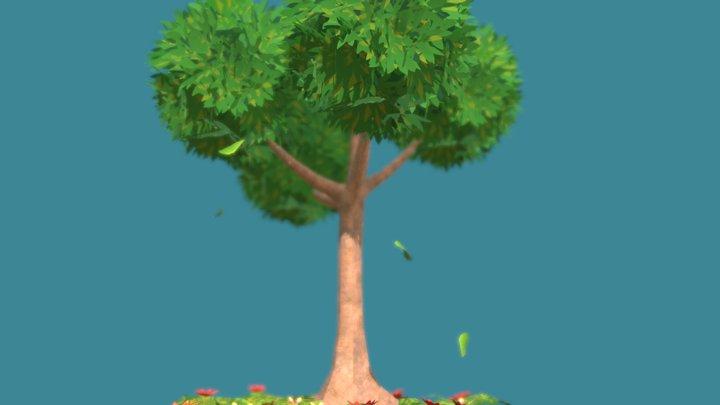 Mimic Breath VR - Animated Tree Model 3D Model