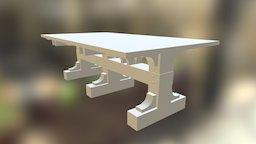 Viking Table 3D Model