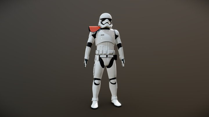 Stormtrooper officer (First Order) 3D Model