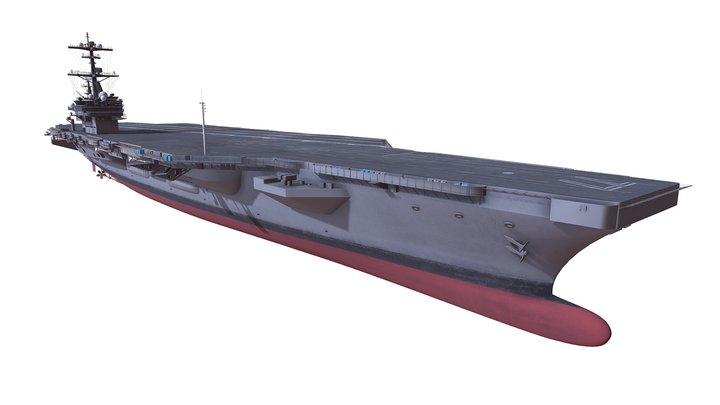 USS George H.W. Bush CVN-77 Aircraft Carrier 3D Model