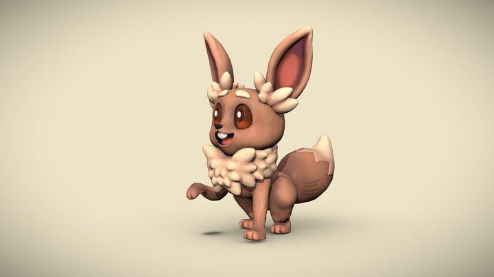 Cute Creature Evoli (Pixie) 3D model 3D Model