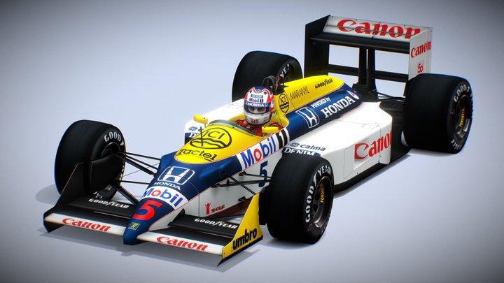 Williams FW11B / Nigel Mansell / 1987 British GP 3D Model