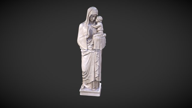 Madonna and Child 3D Model