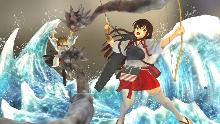 Akagi-san wave Dirama 3D Model