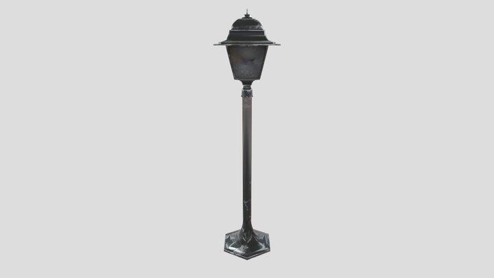Small street lamp 3D Model