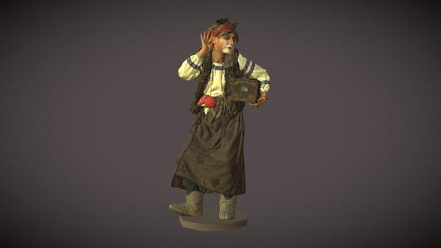 "3D модель ""Баба Яга с сундуком"" 3D Model"