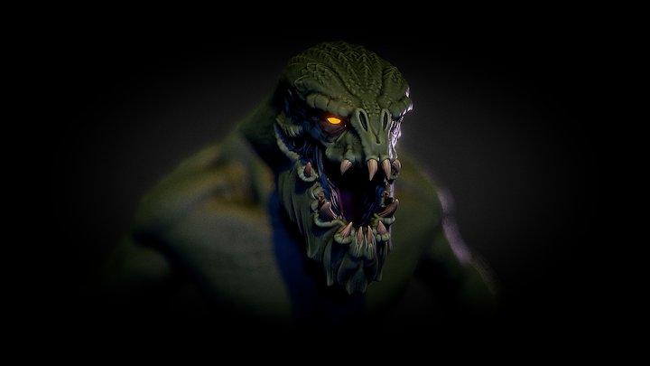 Lizard Man 3D Model