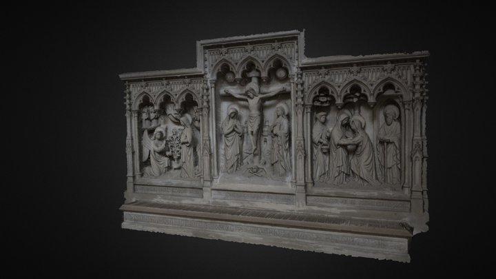 Retablo En Piedra De La Catedral De Bruselas 3D Model