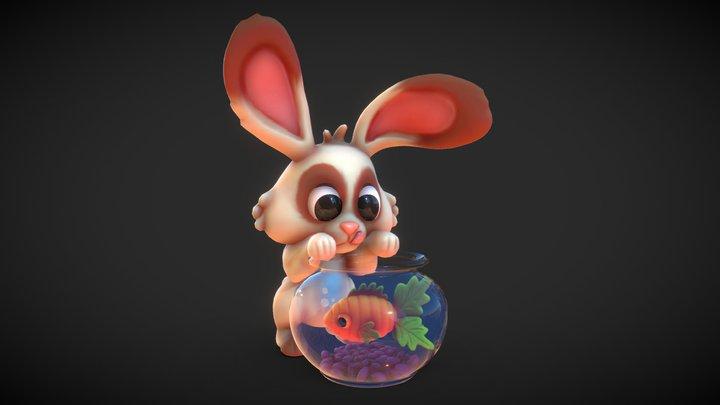 Rabbit - Betta Carotene - 3D Model