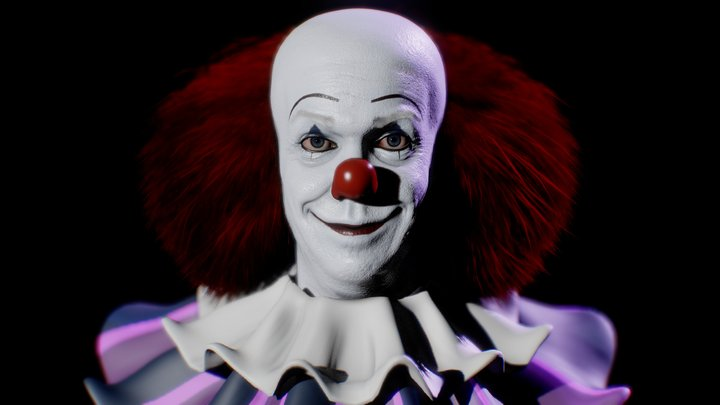 Pennywise,The Dancing Clown (1990 Version) 3D Model