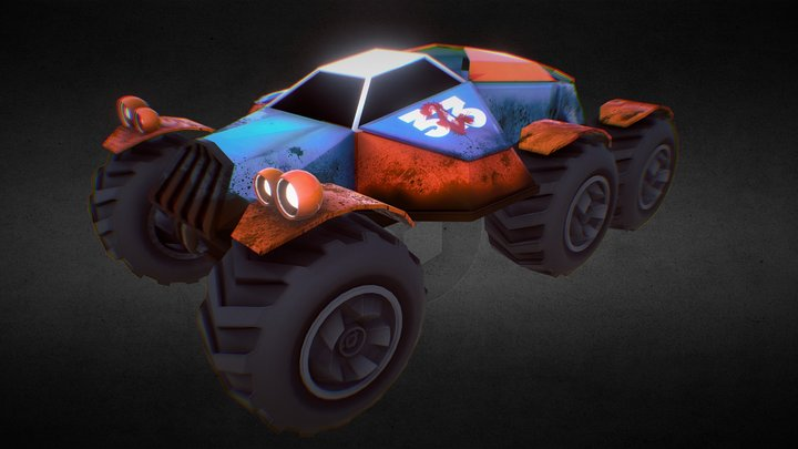GameArt - Monster Truck (Warturtle) 3D Model