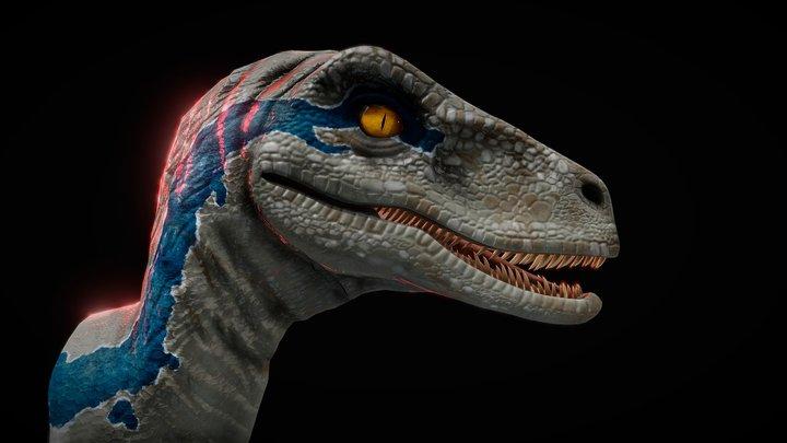 """Blue"" Jurassic World [ 4K, FREE] 3D Model"