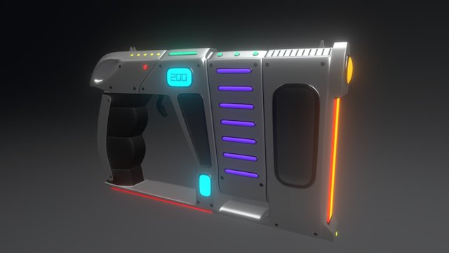 Alien Blaster 01 3D Model