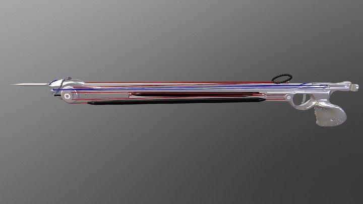 Inverted Aluminium Speargun Prototype - Loaded 3D Model