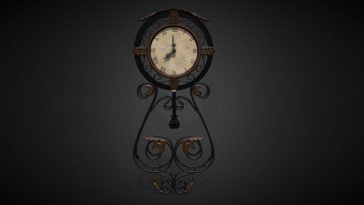 Bombay Wall Clock 3D Model