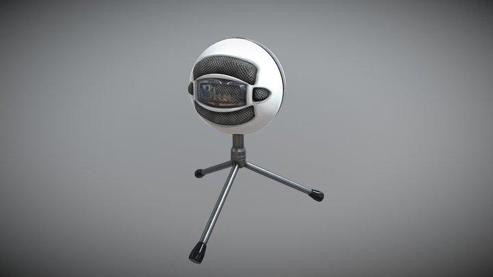 Blue Snowball 3D Model