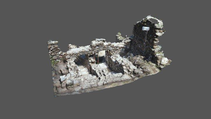 Torbogen Burgruine Freudenberg Bad Ragaz 3D Model