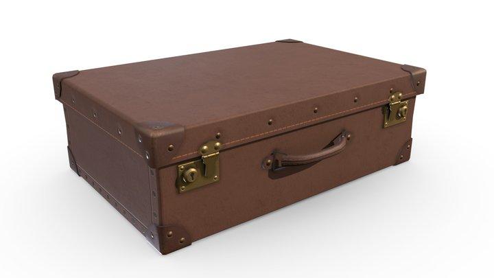 Vintage Suitcase 3D Model