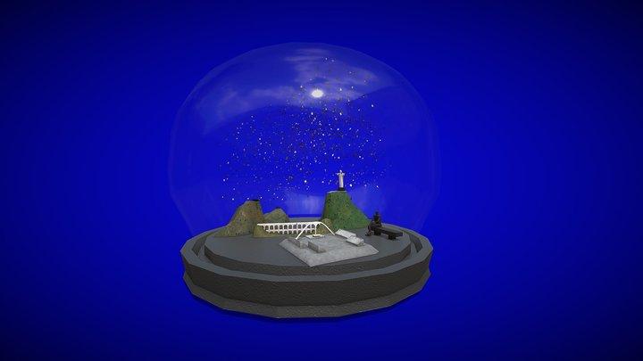Confetti globe 3D Model