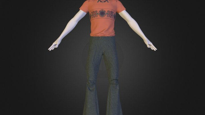 Cargo Pants and Orange TShirt.zip 3D Model