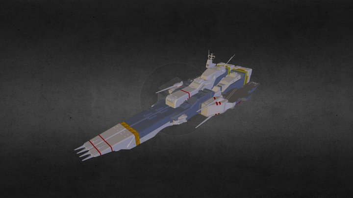SDF-1 Spaceship mode 3D Model
