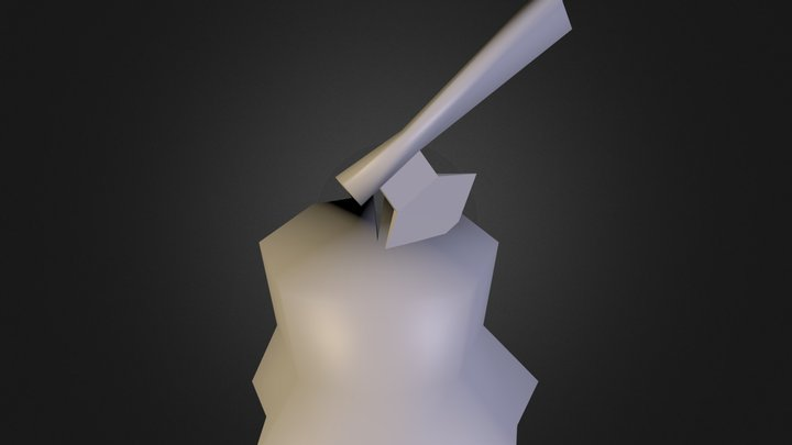 Axe Wood low poly 3D Model