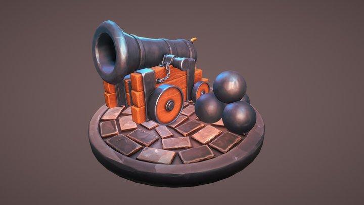 Stylized Cannon 3D Model