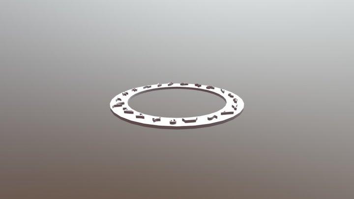 Rune Circle 3D Model