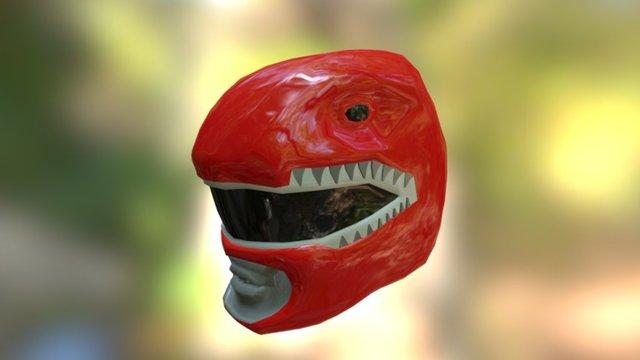 Red Ranger Helmet 3D Model