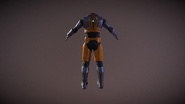 Freeman suit MK5 Redux 3D Model