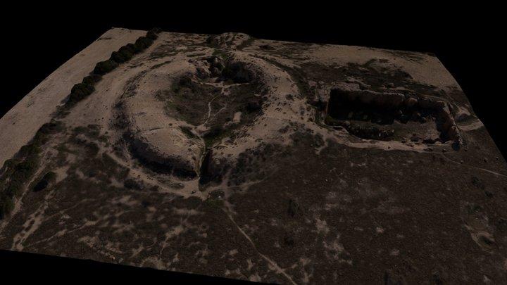 Amphitheatre & Cistern, Thuburbo Majus 3D Model