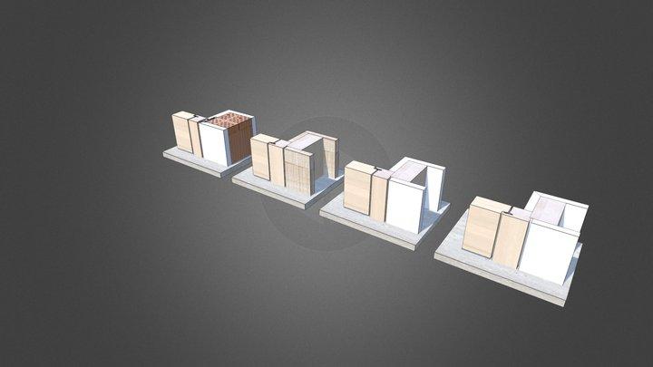 Blockrahmen flächig 3D Model