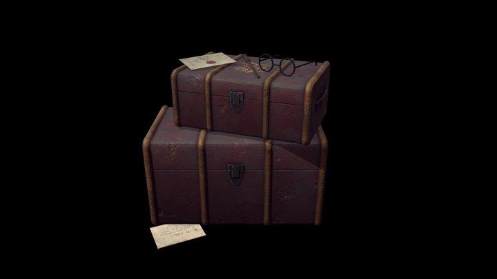 Harry Potter Suitcase 3D Model