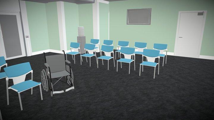 reception area4 3D Model