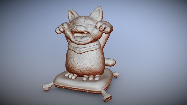 Lucky Cat Another Pose 3D Model